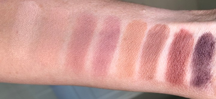 Lorac Pro Palette 4 matte shadow swatches
