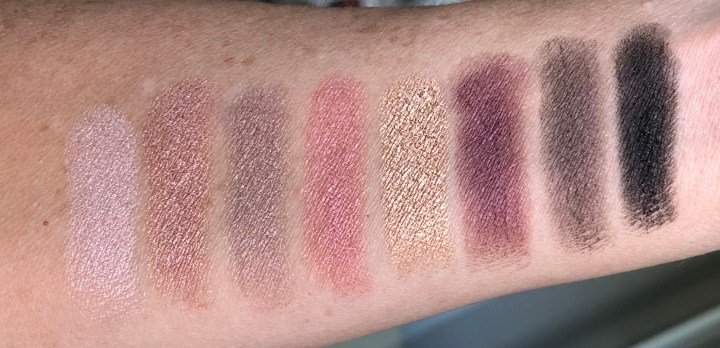 Lorac Pro Palette 4 shimmer shadow swatches
