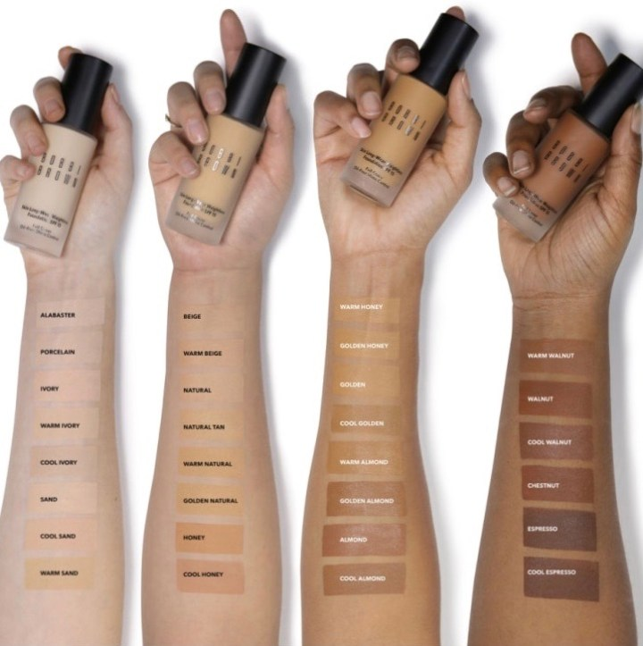 Bobbi Brown foundation shades