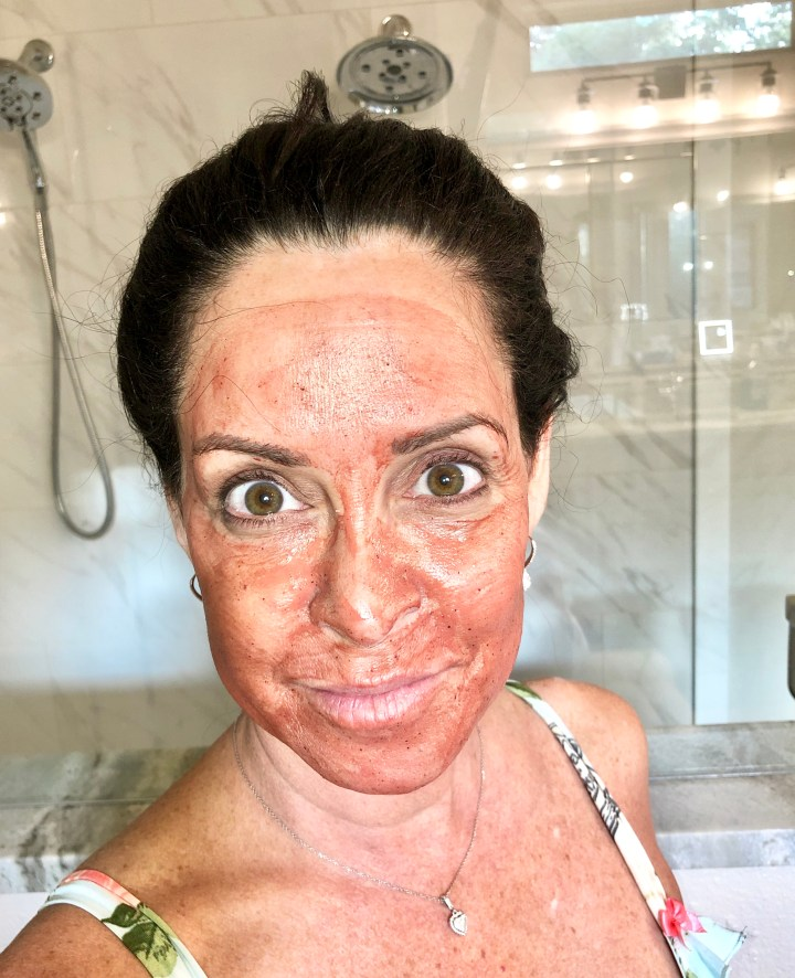 coconut rose diy detox face mask