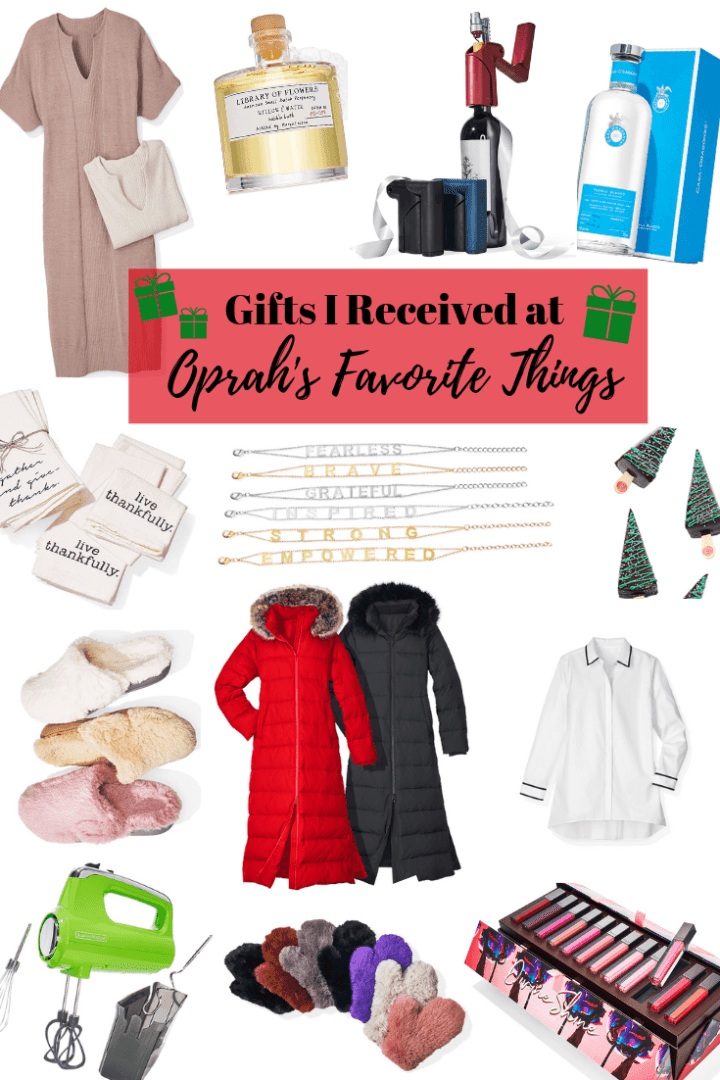 Oprah's Favorite Things gifts to attendees 2018