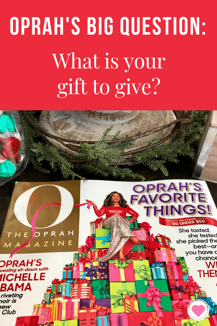 Oprah Magazine\'s December Big Question