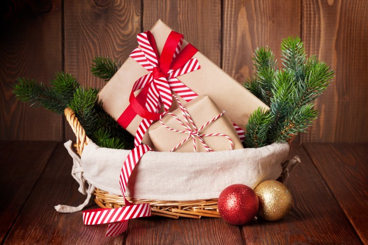 basket of Christmas gifts