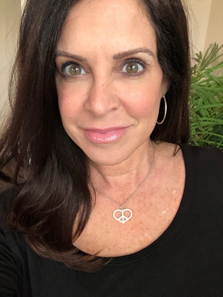 peace and love necklace by Nancy Davis