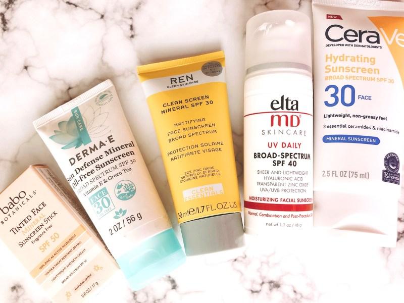 favorite face sunscreens