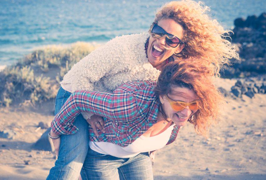 empowered women on beach
