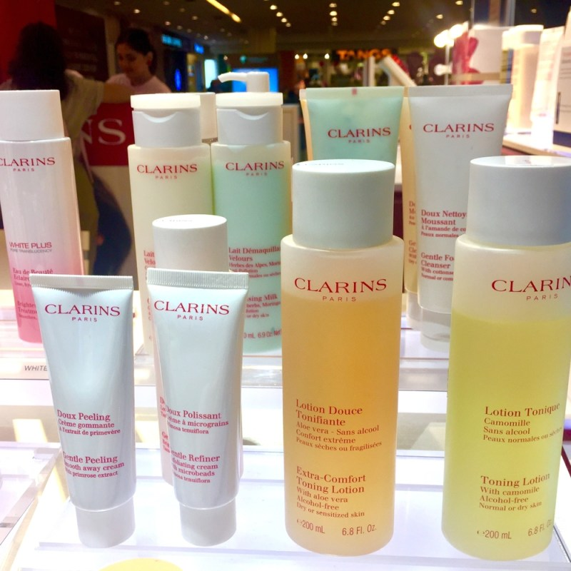 Clarins brand of skincare products