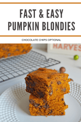 FAST AND EASY PUMPKIN BLONDIES RECIPE