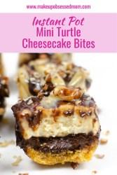 mini turtle cheesecake bites