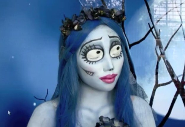 4. Emily (The Corpse Bride) | 15 DIY Movie-Inspired Makeup Inspirations for Halloween