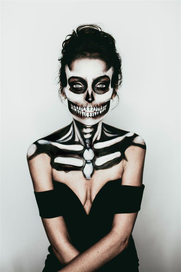 Bony Skeleton | Spooky Skeleton Makeup Ideas You Should Wear This Halloween