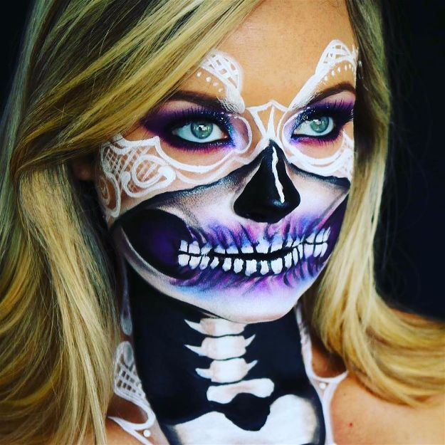 Bridal Skull | Spooky Skeleton Makeup Ideas You Should Wear This Halloween