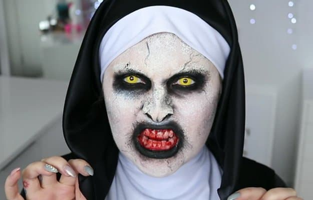 Valak (The Conjuring) | 15 DIY Movie-Inspired Makeup Inspirations for Halloween