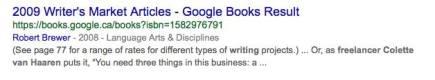 Writer'sMarketArticles2009-GoogleBookResult-QuoteColette