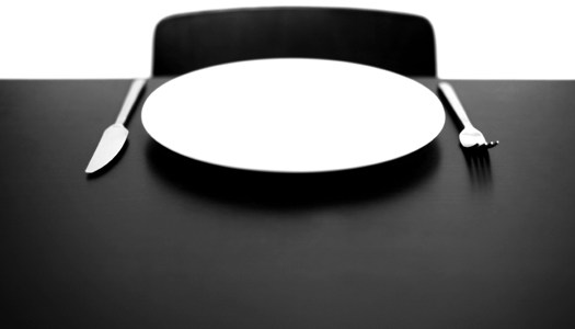 Fasting empty plate