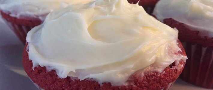 Red Velvet Cupcakes – Topped With Cream Cheese Icing