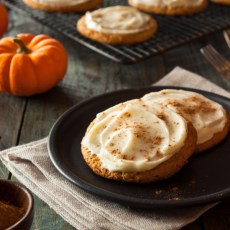 Moist and Delicious Pumpkin Cookies With A Cream Cheese Icing