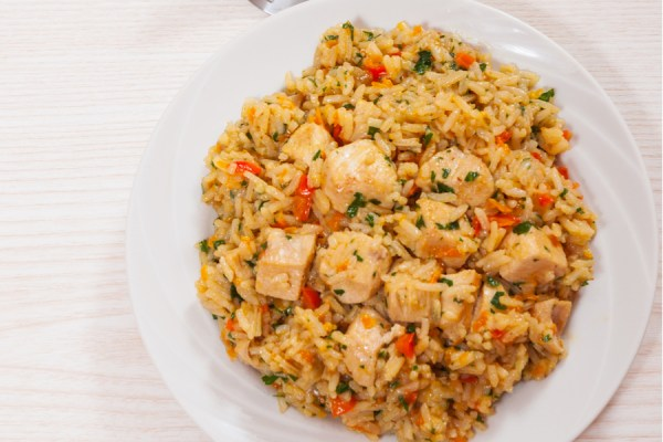 healthy instant pot chicken and rice