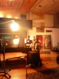 Derek Hough filming 'Let Me In' music video #18