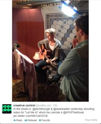 Derek Hough filming 'Let Me In' music video #19