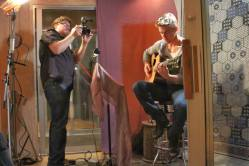 Derek Hough filming 'Let Me In' music video #2