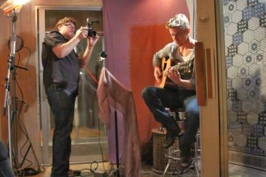 Derek Hough filming 'Let Me In' music video #3