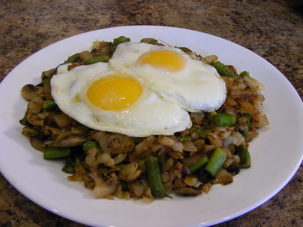 Veggie Hash with Eggs