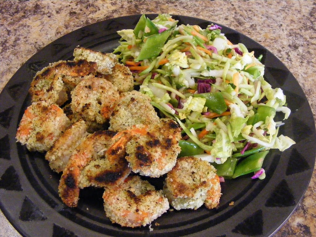 Pan-Fried Shrimp and Asian Slaw