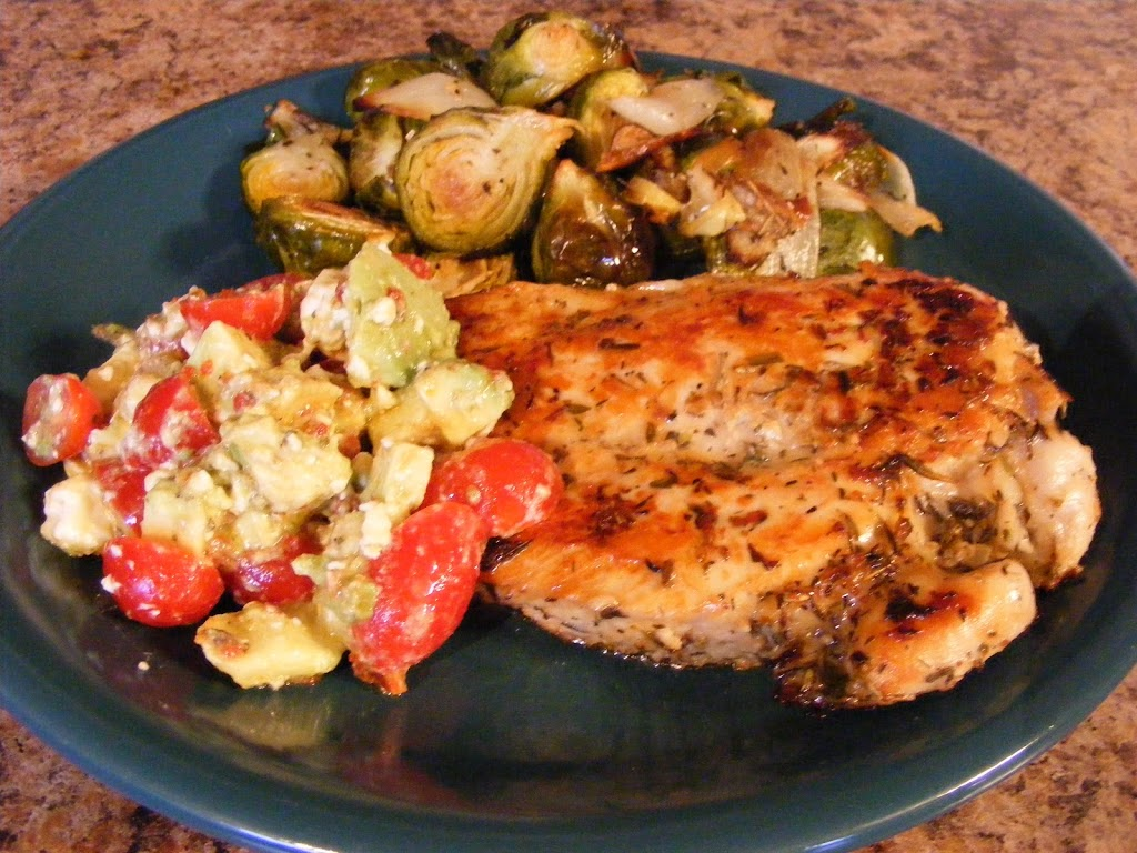 Rosemary Chicken with Tomato-Avocado Salsa