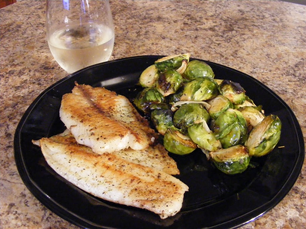 Pan-Fried Tilapia and Brussel Sprouts