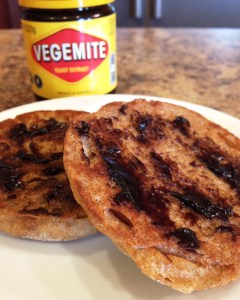 Delicious on a buttered English muffin.