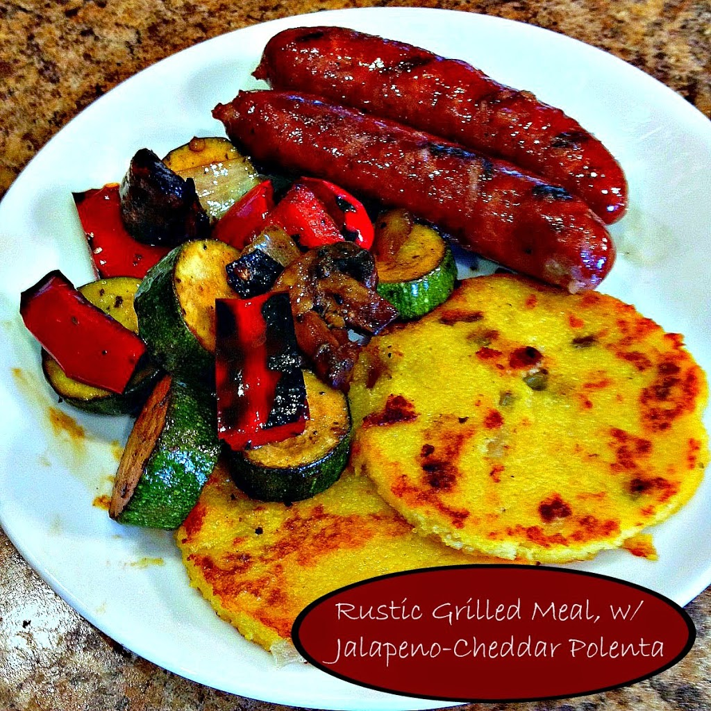 Rustic Meal: Sausages, Veggies and Polenta