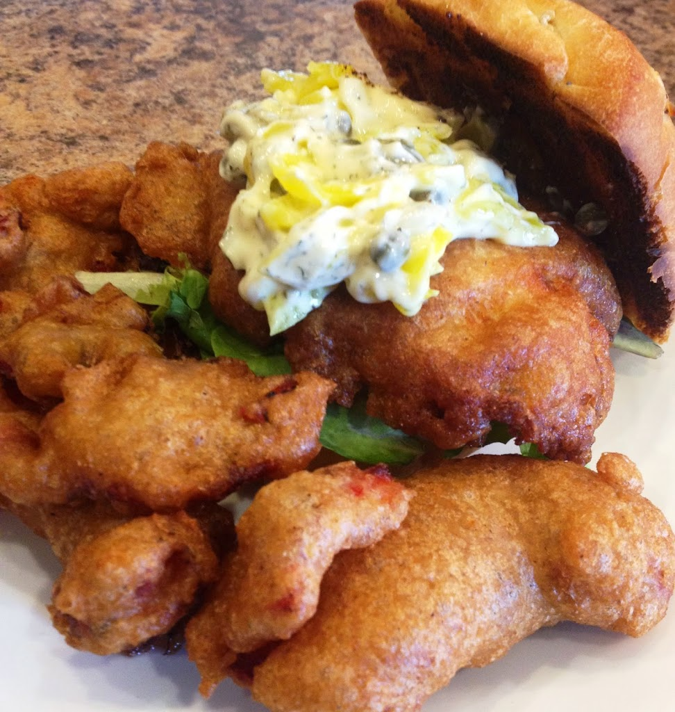 Beer Battered Tilapia, with White Tartar