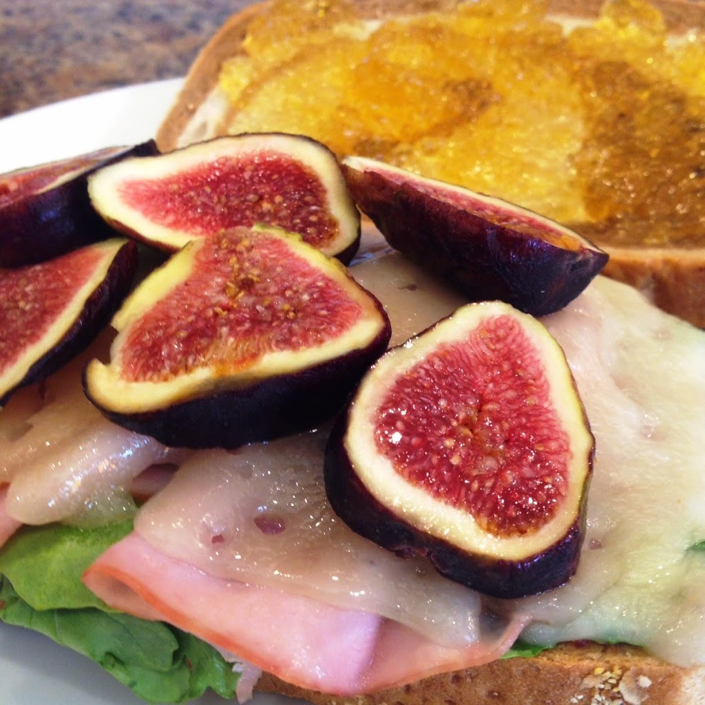Toasted Ham and Swiss with Fresh Figs and Vidalia Jam