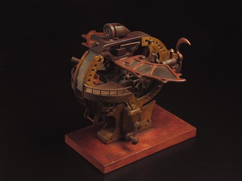 Kinetic fantasy vehicle sculpture
