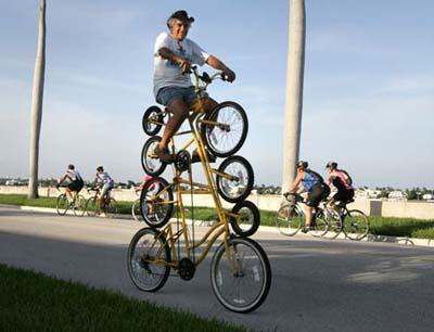 Quadruple layer bike improves your balance