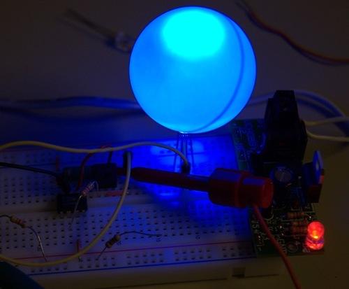 Ping pong ball LED diffuser