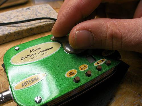 Touchkeyer on Altoids-based HF radio