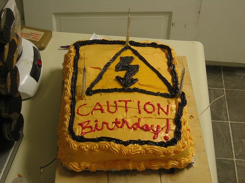 High voltage birthday cake