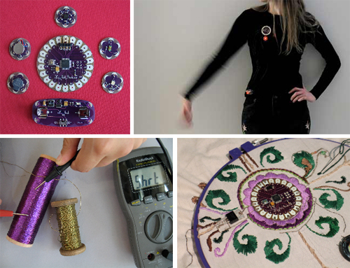 Leah Buechley's LilyPad Arduino workshop in Amsterdam 4/15-4/18