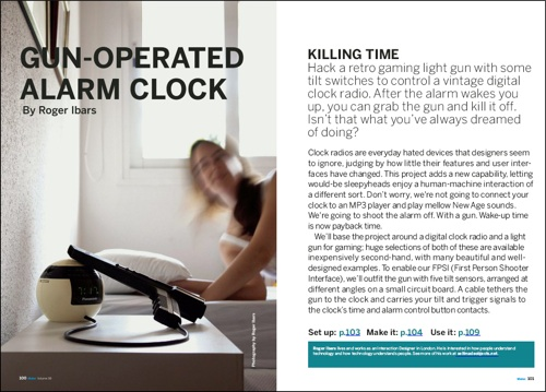 Weekend Project:  Phaser blasted alarm clock! (PDF)