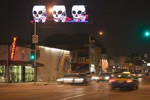 Skullphone billboard (not hacking)