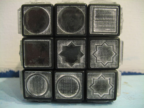 Tactile puzzle cube