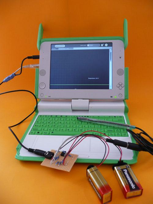 Make a temperature probe for the OLPC
