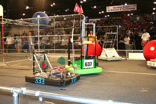 FIRST robotics competition (Day 1)