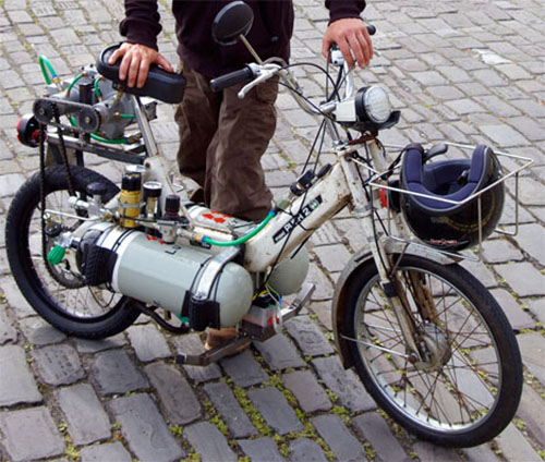 Air powered moped
