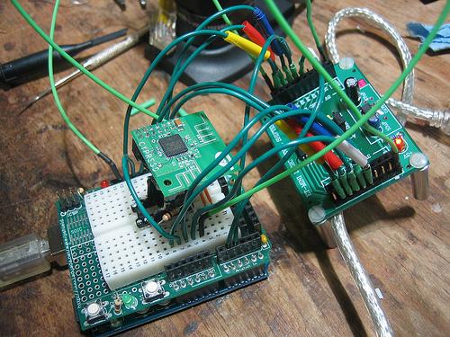 Arduino spectrum analyzer in development