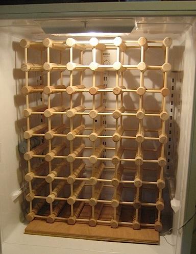 Refridgerator to wine cellar