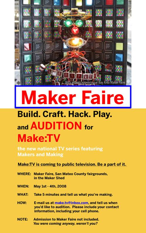 Audition for Make:TV @ Maker Faire