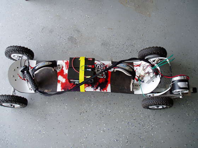Electric skate board moves mountains